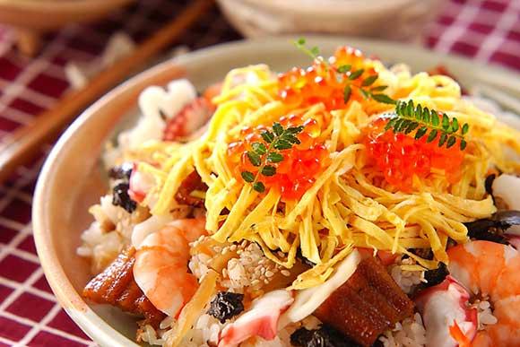 日本团伙美食女儿节必吃的散寿司所团圆的寓见闻包含―美食团圆―图片